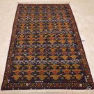 NEW 4x6 WOOL HANDMADE AREA RUG PERSIAN BLUE RED GOLD