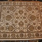 9x12 AREA RUG PERSIAN JAIPUR HANDMADE IVORY GREEN GOLD