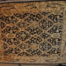 8x10 WOOL AREA RUG NEPALESE HANDMADE BLACK GOLD GREEN