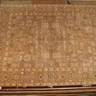 8x10 WOOL RUG PERSIAN JAIPUR GEOMETRIC HANDMADE TAN MIX