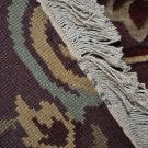 6x9 MODERN RUG THICK PLUSH PLUM AQUA BEIGE GOLD WOOL