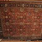 9x12 RUG HANDMADE MAHAL RED BLUE KASHAN GOLD GREEN NEW