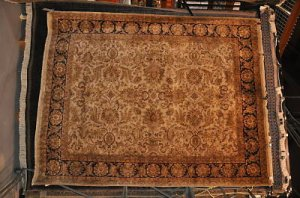 8x10 HANDMADE AGRA WORSTED WOOL AREA RUG JAIPUR GREEN
