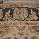 5x7 AREA RUG WOOL HAND KNOTTED JAIPUR BEIGE CHARCOAL