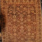 7x8 AREA RUG WOOL HANDMADE VEGETABLE DYE CHOBI BROWN