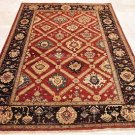 6x8 AREA RUG WOOL HANDMADE VEGETABLE DYE CHOBI RUST