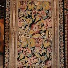 5x8 AREA RUG ALL WOOL HAND KNOTTED FLORAL BLACK BORDER