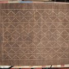 8x10 BROWN VEGETABLE DYE RUG MODERN TRANSITIONAL WOOL