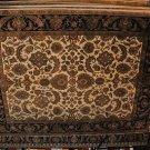 8x10 WOOL AREA RUG PERSIAN HANDMADE JAIPUR IVORY BLACK