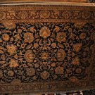 9x12 AREA RUG PERSIAN JAIPUR HANDMADE BLACK RED GOLD