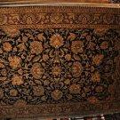 9x12 AREA RUG PERSIAN JAIPUR HANDMADE BLACK RED GOLD