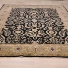 9x12 WOOL AREA RUG HANDMADE PERSIAN BLACK SAROUK GREEN