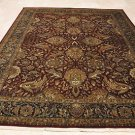 9x12 WOOL RUG HANDMADE PERSIAN BURGUNDY NAVY BLUE GOLD