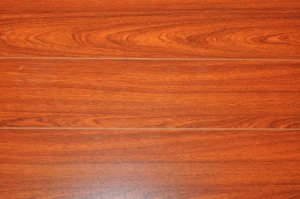 8MM Brazilian Cherry Pad Attached High Gloss AC3 Beveled Laminate Wood Flooring
