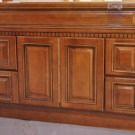 """48 Inch Contemporary Caramel Fluted Bathroom Vanity Four Drawers Cabinet 48"""""""
