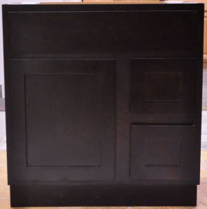 """30 Inch Shaker Style Expresso Espresso Bathroom Vanity Right Drawers Cabinet 30"""""""