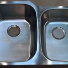 "32¼"" x 20¾"" x9"" Stainless Steel 18ga Undermount 60/40 Kitchen Double Bowl Sink"