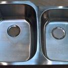 "32¼"" x 20¾"" x9"" Stainless Steel 18ga Undermount 60/40 Kitchen Double Bowl Sink"