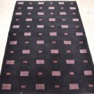 4x6 WOOL AREA RUG HANDMADE PERSIAN BLACK INDO NEPAL CONTEMPORARY MODERN 100 KPSI