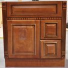 30 Inch Contemporary Caramel Fluted Bathroom Vanity Right Drawers Cabinet 30""