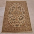 3x5 AREA RUG PERSIAN BEIGE GOLD DENSE PILE FLORAL ISPAHAN/ISFAHAN STYLE OLEFIN