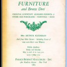 LOUIS XV-XVI FURNITURE AND BRONZE DORE - MRS ARHUR KLEINMAN  Public Auction May 1964 Book
