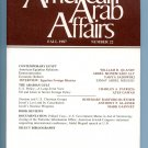 American Arab Affairs Journal - Fall 1987, Number 22 - Volume - Zionism - Persian Gulf