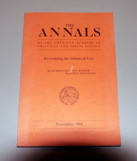 The Annals of the American Academy of Political and Social Science - Volume 488 November 1986