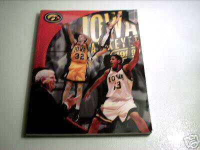 University of Iowa Hawkeys Men's Basketball 1999 Schedule & Program Guide