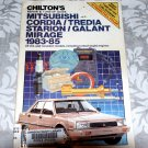 Chilton's Service, Repair & Tune-Up Guide Mitsubishi Cordia, Tredia Starion/Galant Mirage 1983-85