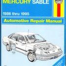 Ford Taurus, 1986-1995 (Haynes Manual) by John Haynes (Service Repair Guide)