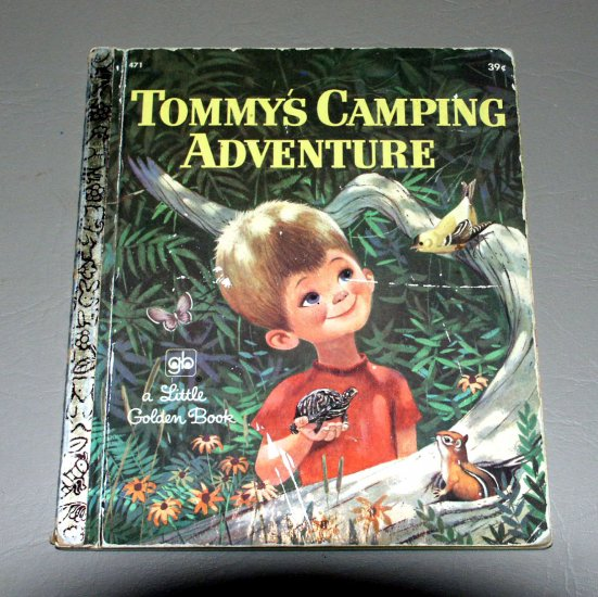 Tommy's Camping Adventure (A Little Golden Book) by Gladys Relyea Saxon, Mel Crawford