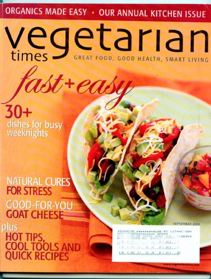 Vegetarian Times Magazine - September 2006 - Natural Cures for Stress