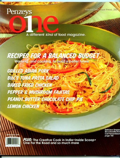 Penzey's One Magazine - Volume Two, Issue Three, 2007 - Recipes for a Balanced Budget