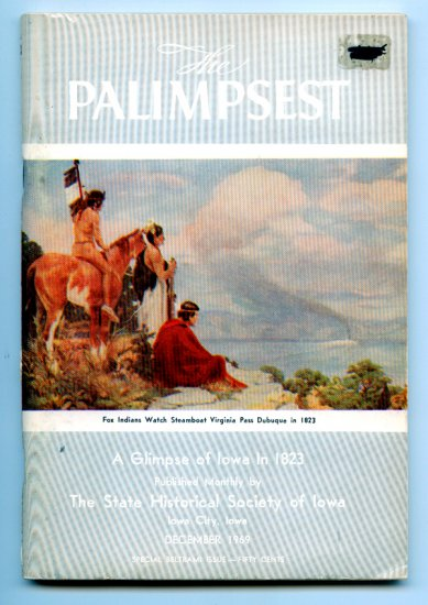 The Palimpsest - December 1969 Vol. I No. 12 - A Glimpse of Iowa in 1823
