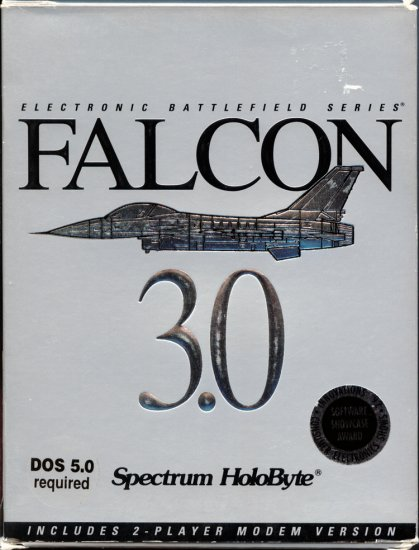 Falcon 3.0 by Spectrum Holobyte - DOS PC Video Game (Retail Box) Electronic Battlefield Series