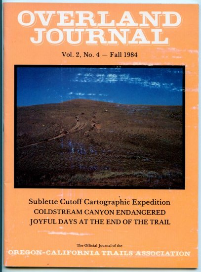 Overland Journal - Volume 2, Number 4, Fall 1984 - Coldstream Canyon Endangered
