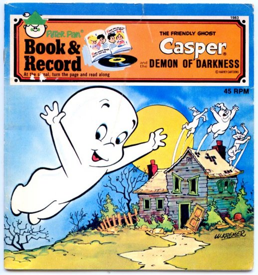 Casper the Friendly Ghost Meets the Demon of Darkness (C301-83) (Book & Record) by Harvey Cartoons