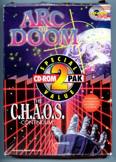 ARC of DOOM & The CHAOS Continuum - PC DOS CD-ROM Vintage Computer Video Game in box