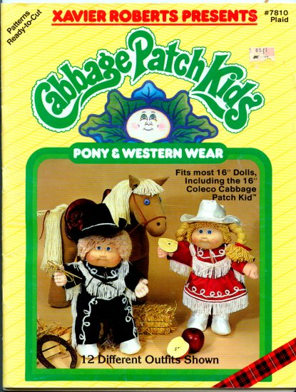 Cabbage Patch Kids (Magazine 7810 Plaid) Pony & Western Wear Clothes Patterns