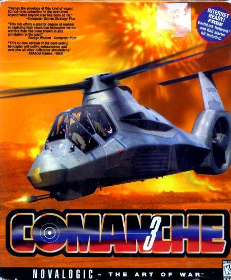Comanche 3 - The Art of War by Novalogic (Helicopter Simulator) PC Video Game