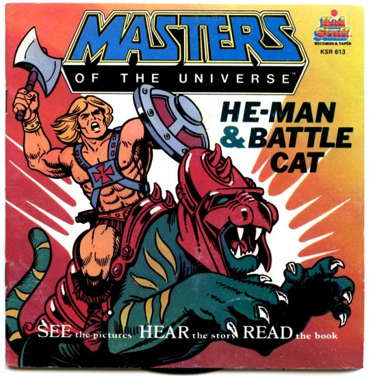 MASTERS OF THE UNIVERSE-HE-MAN & BATTLE CAT (Book & Record) by KID STUFF