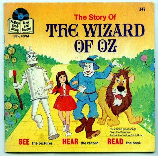 The Wizard of OZ by Frank Baum (Book & Record) Disneyland Records  #347