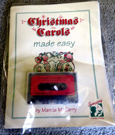 Christmas Carols Made Easy (Book and Tape) by Marcia McCarry