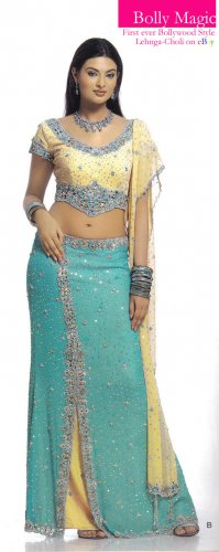 Lehnga Choli Bollywood Style BOLLYMAGIC Lehnga Choli