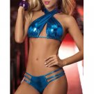 BLUE OR GRAY SILK COTTON EROTIC EXOTIC WOMEN HOT SEXY LINGERIE TEDDIES TEDDY