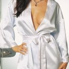SEXY WHITE GOWN BATH ROBE NYLON LONG SLEEVED LINGERIE LINGERE SLEEPWEAR INTIMATE