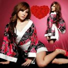 BUY HOT SEXY LINGERIE JAPANESE KIMONO ROBES GOWN DRESS FOR SALE RED+BLACK