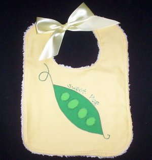 """Sweet Pea"" Soak Proof Bib"