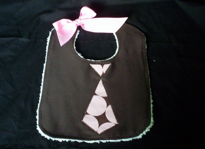 Retro Neck Tie - Disco Dot Soak Proof Bib